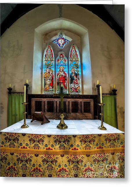 Table Cloth Greeting Cards - The Chancel Greeting Card by Adrian Evans