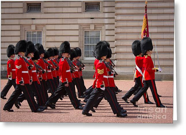 The Changing Of The Guards Greeting Card by Inge Johnsson
