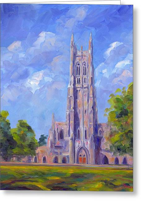 Devil Greeting Cards - The Chapel at Duke University Greeting Card by Jeff Pittman