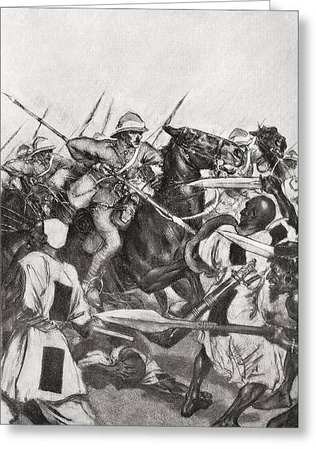 21st Greeting Cards - The Charge Of The 21st Lancers Greeting Card by Vintage Design Pics