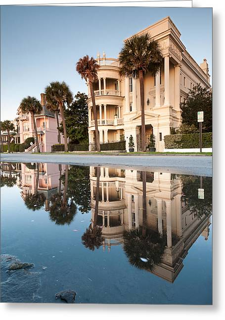 Historic Home Greeting Cards - The Charleston Battery Historic Architecture Greeting Card by Mark VanDyke