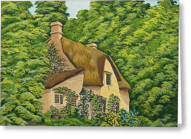 The Charm Of Wiltshire Greeting Card by Charlotte Blanchard
