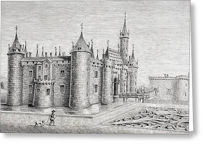 Chateau Drawings Greeting Cards - The Chateau Of Rambouillet, France Greeting Card by Ken Welsh