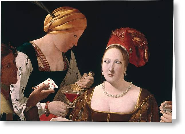 Unfair Greeting Cards - The Cheat with the Ace of Diamonds Greeting Card by Georges de la Tour