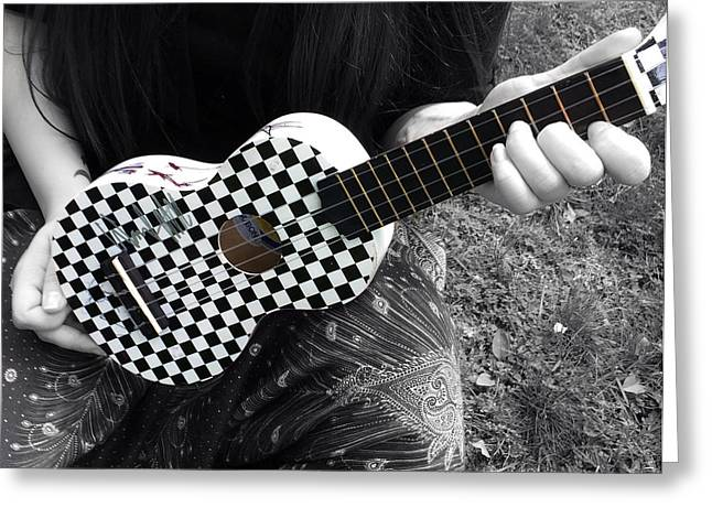 Ukelele Greeting Cards - The Checkered Uke Greeting Card by Steven  Digman
