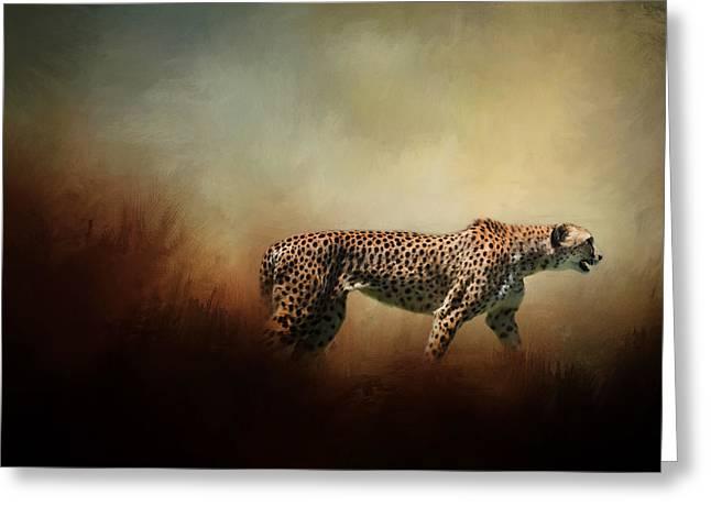 Nature Greeting Cards - The Cheetah Greeting Card by David and Carol Kelly