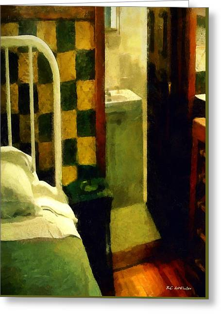 The Chequered Room Greeting Card by RC deWinter
