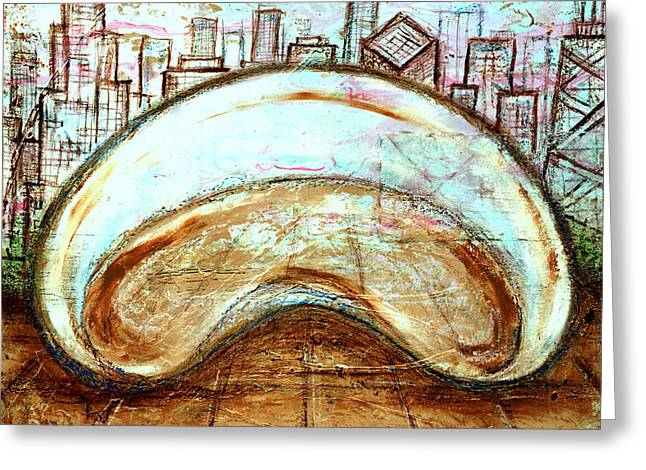 The Bean - Chicago Greeting Card by Laura Gomez