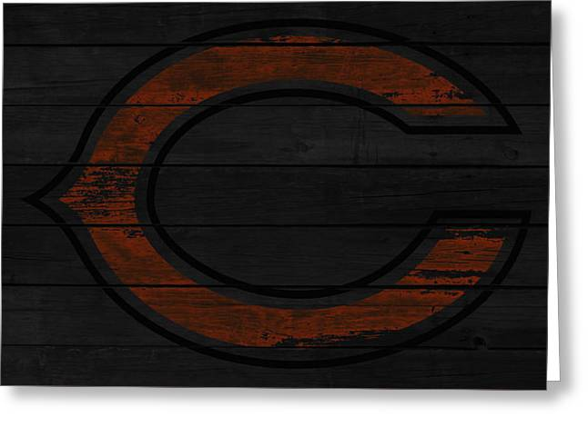 The Chicago Bears 2w Greeting Card by Brian Reaves