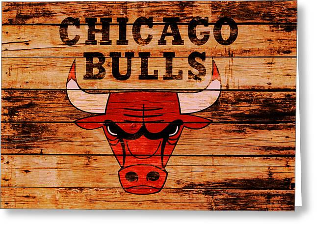 The Chicago Bulls 2w Greeting Card by Brian Reaves