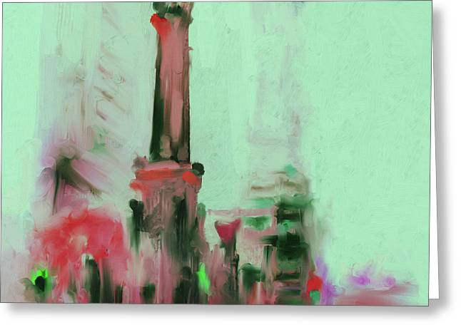 The Chicago Water Tower 535 4 Greeting Card by Mawra Tahreem