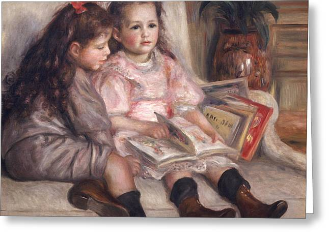 Little Sister Greeting Cards - The Children of Martial Caillebotte Greeting Card by Pierre Auguste Renoir