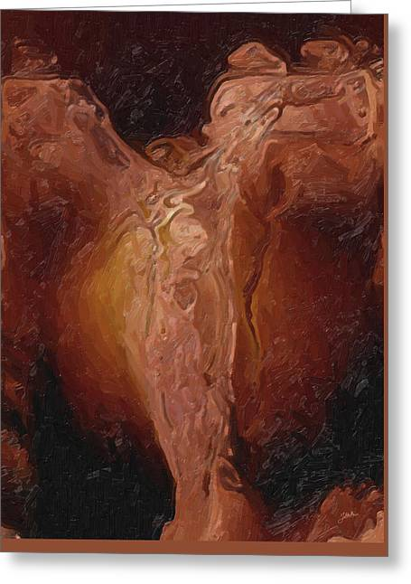 The Christ Of The Winds Greeting Card by Joaquin Abella