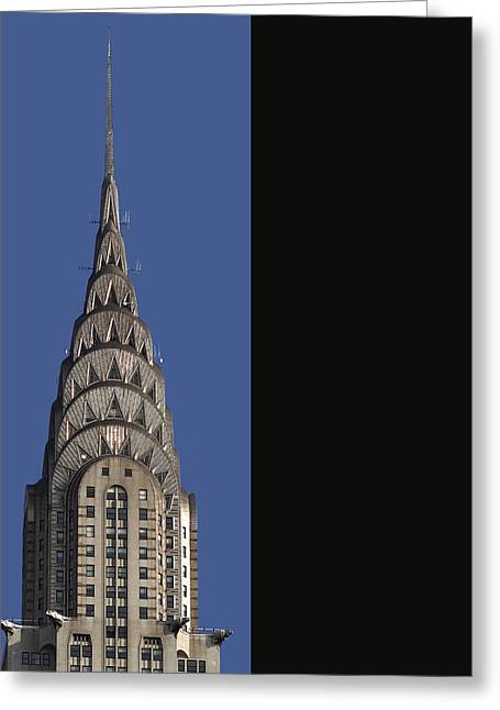 The Chrysler Building - Deco Detail Greeting Card by Rona Black