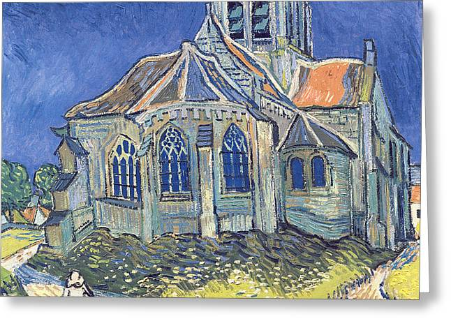 The Church at Auvers sur Oise Greeting Card by Vincent Van Gogh
