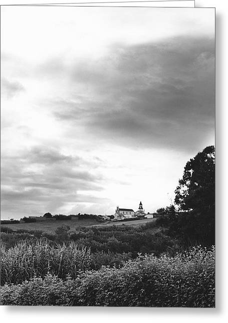 Azores Greeting Cards - The Church at Salga Azores Portugal Greeting Card by Henry Krauzyk