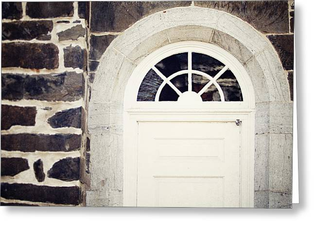 Reform Greeting Cards - The Church Door Greeting Card by Lisa Russo