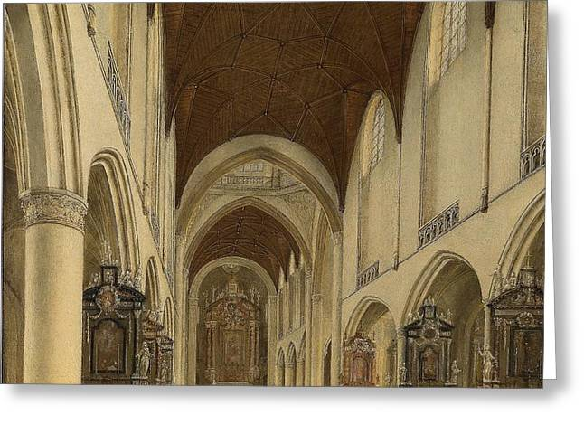The Church Greeting Cards - The Church of St. Bavo in Haarlem Greeting Card by Celestial Images