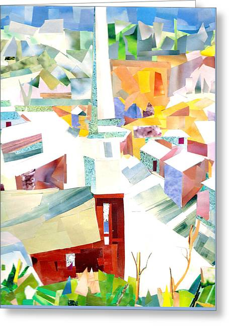 Child Jesus Greeting Cards - The Church on Main Street Greeting Card by Paul Frederick Bush