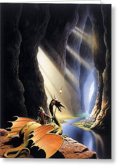 Dragon Greeting Cards - The Citadel Greeting Card by The Dragon Chronicles - Steve Re