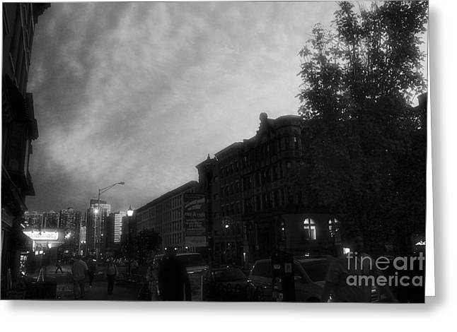 Light And Dark Greeting Cards - The City of Hoboken Black and White 2 Greeting Card by Marina McLain