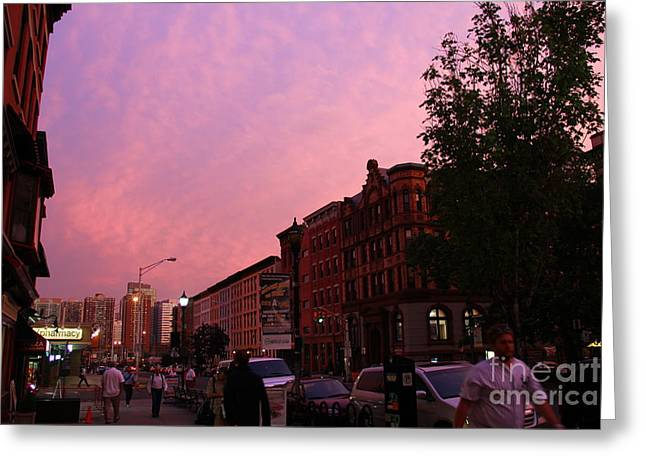 Light And Dark Greeting Cards - The City of Hoboken Greeting Card by Marina McLain