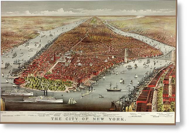 The City Of New York Greeting Card by American School