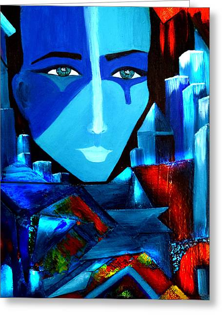 Geometrical Art Greeting Cards - Abstract Two Greeting Card by Patricia Motley
