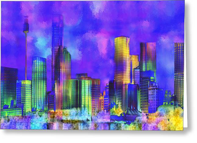 The City  Sydney Greeting Card by Kurt Van Wagner