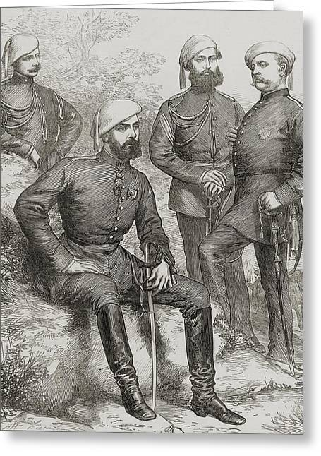 Pretender Greeting Cards - The Civil War In Spain Don Carlos And Greeting Card by Ken Welsh