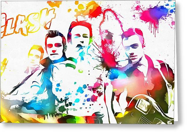 The Clash Greeting Cards - The Clash Paint Splatter Greeting Card by Dan Sproul