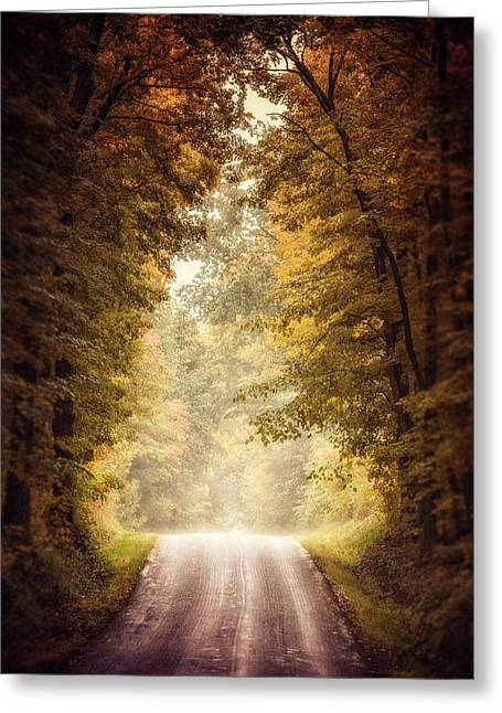 Dreamy Landscape Greeting Cards - The Clearing Greeting Card by Lisa Russo
