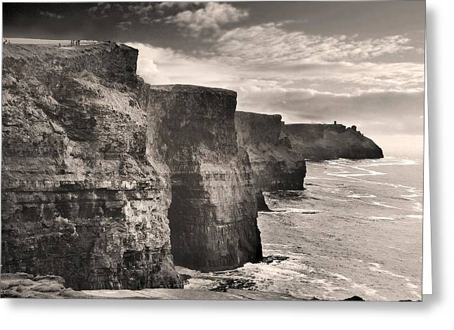 Clare Greeting Cards - The Cliffs of Moher Greeting Card by Robert Lacy