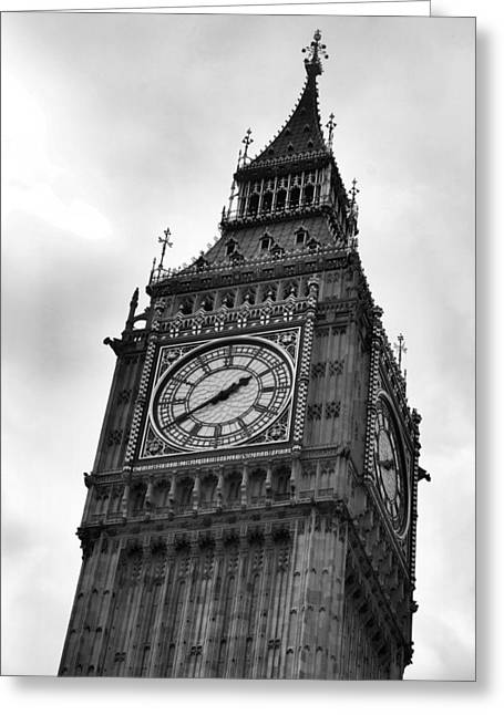 London Pyrography Greeting Cards - The Clock Tower Greeting Card by Jenifer Madsen
