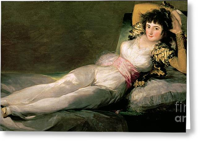 The Clothed Maja Greeting Card by Goya