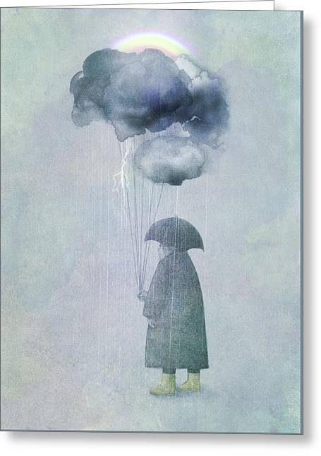The Cloud Seller Greeting Card by Eric Fan