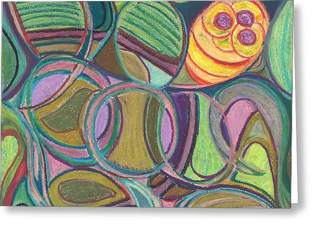 Spirituality Pastels Greeting Cards - The Clown Bee Greeting Card by Claudia Cion