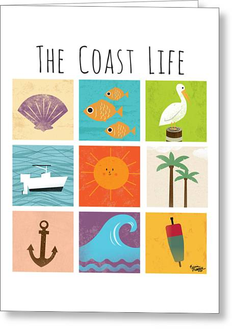 Boating Digital Greeting Cards - The Coast Life Greeting Card by Kevin Putman