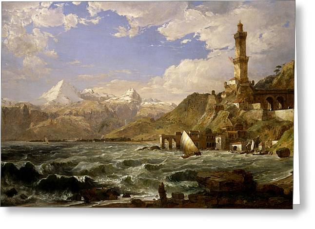 The Coast Of Genoa Greeting Card by Jasper Francis Cropsey
