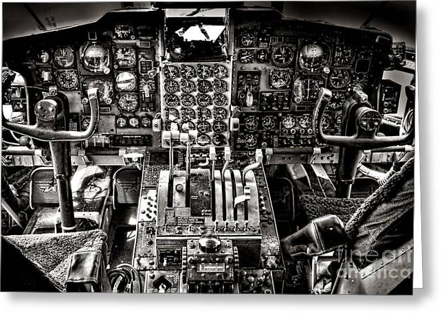 Cabin Interiors Photographs Greeting Cards - The Cockpit Greeting Card by Olivier Le Queinec
