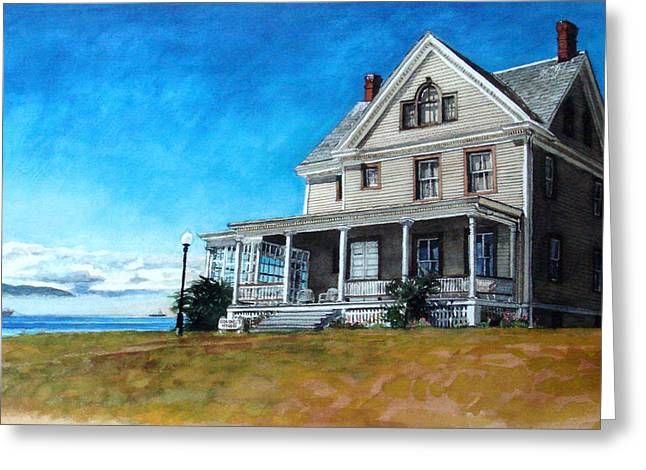 Fort Casey Greeting Cards - The Colonels House Greeting Card by Perry Woodfin
