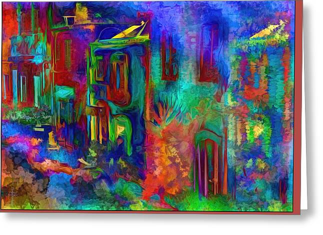 Impressionist Greeting Cards - The Color Neighborhood Greeting Card by Daniel  Arrhakis