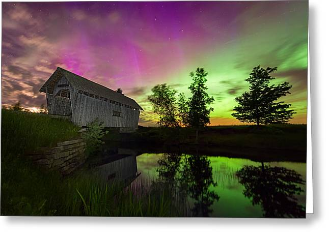 Cabot Greeting Cards - The Color of Night Greeting Card by Michael Blanchette