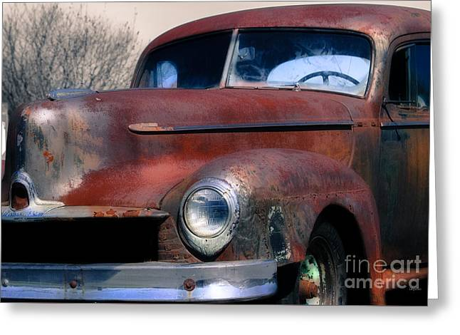 Old Trucks Digital Greeting Cards - The Color of Rust  Greeting Card by Steven  Digman