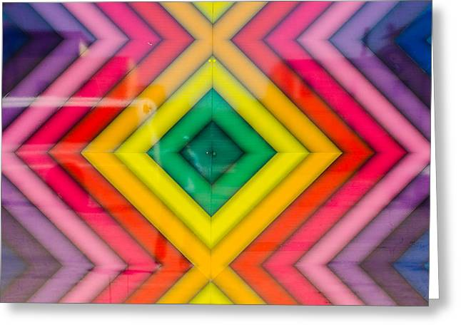 Geometrical Art Greeting Cards - The Color out of Space Greeting Card by Andrea Mazzocchetti