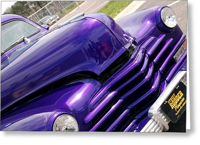 Auction Greeting Cards - The color purple Greeting Card by Susanne Van Hulst