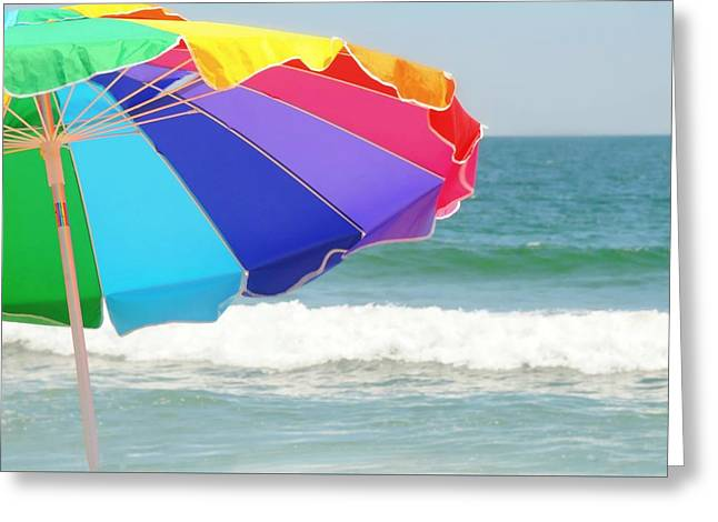 On The Beach Greeting Cards - The Color Wheel Greeting Card by Diana Angstadt