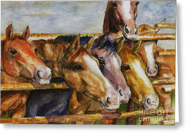 Horse Herd Greeting Cards - The Colorado Horse Rescue Greeting Card by Frances Marino