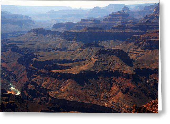 Grand Cayon Greeting Cards - The Colorado River Greeting Card by Susanne Van Hulst