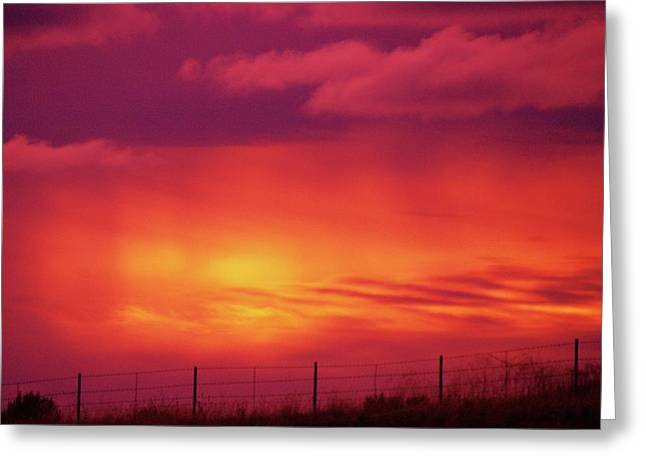 The Colored Sky Greeting Card by Jeff Swan